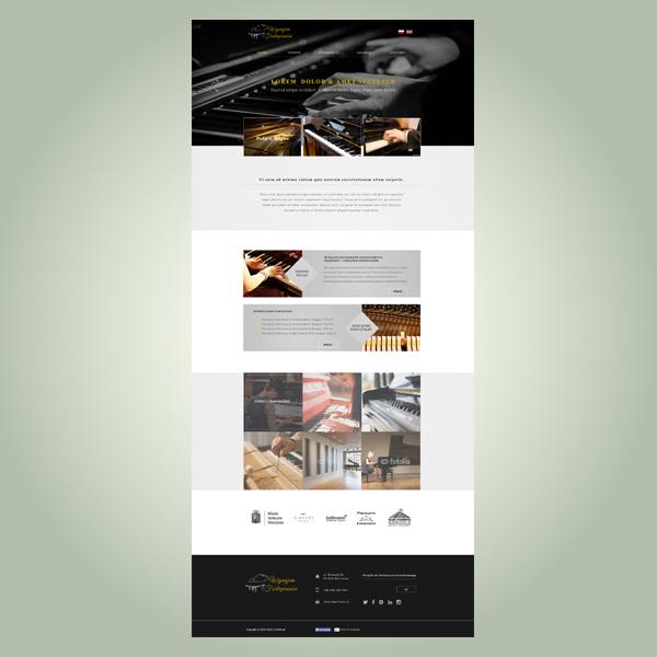 strona www oferująca wynajem fortepianów