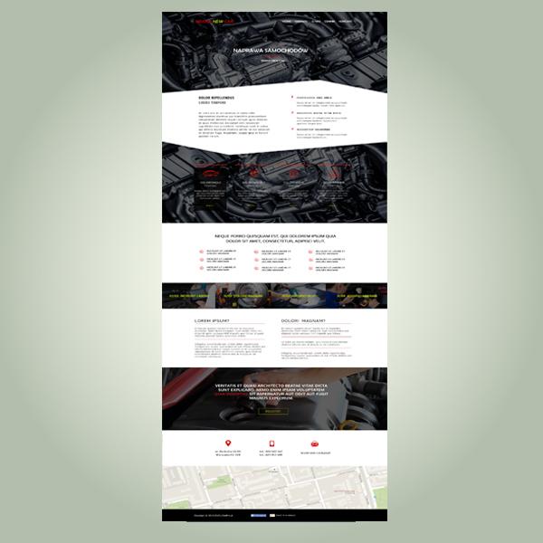 strona www warsztatu samochodowego