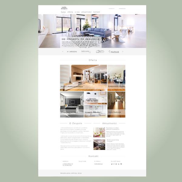 strona www biura projektującego wnętrza